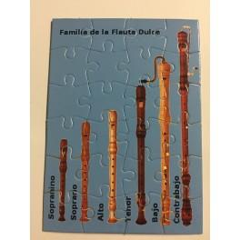 Puzzle familia flauta dulce