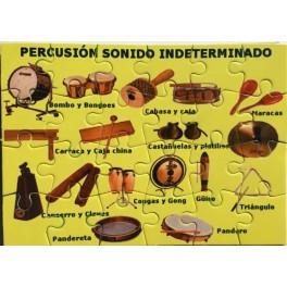 Puzzle Percusión sonido indeterminado