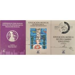 Tres libros sobre educación musical con recursos y experiencias